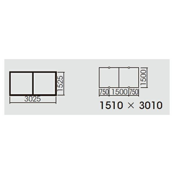 【FYY80072】パナソニック スマートアーキ 2台用取付枠 XFY6600用・XFY4020用 受注生産品 【panasonic】