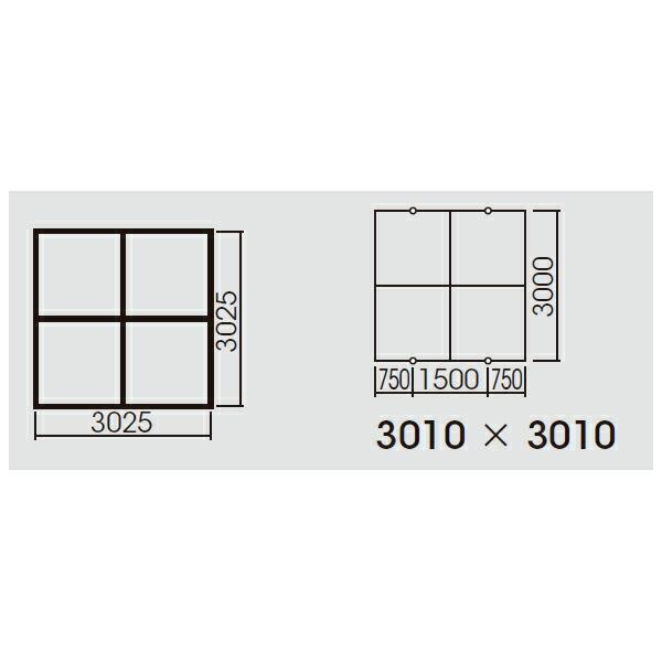 【FYY80074】パナソニック スマートアーキ 4台用取付枠 XFY6600用・XFY4020用 受注生産品 【panasonic】