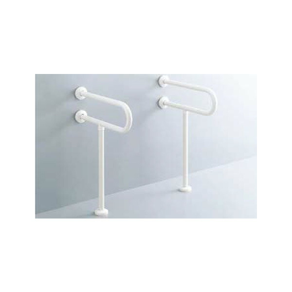 【KF-312AE55/WA】リクシル 各種施設用固定式手すり 洗面器用手すり(壁床固定式) 樹脂被覆タイプ 【LIXIL】