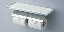 【YH63GWS】トートー 棚付二連紙巻器 めっきタイプ 【TOTO】