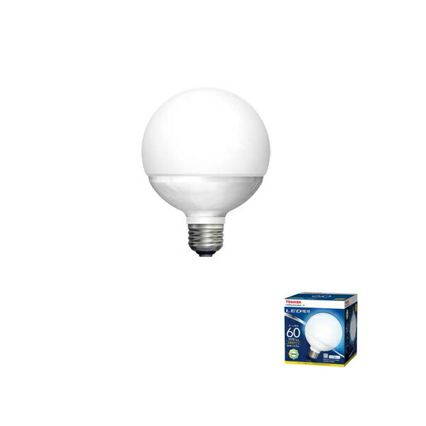 LDG7N-G 60W 東芝 LED電球 ボール電球形 広配光タイプ TOSHIBA 超特価 60W形相当 通販 外径95mmタイプ