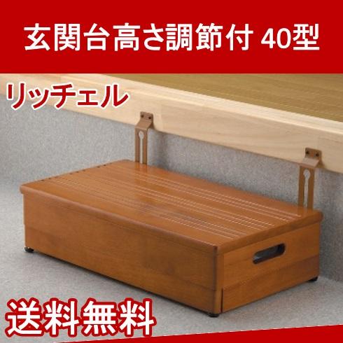 玄関台高さ調節付 40型 49106 リッチェル【送料無料】