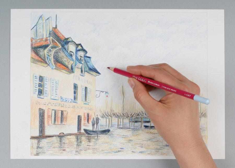 楽天市場サクラクレパス T9774 0065ヴァンゴッホ 水彩色鉛筆 60色