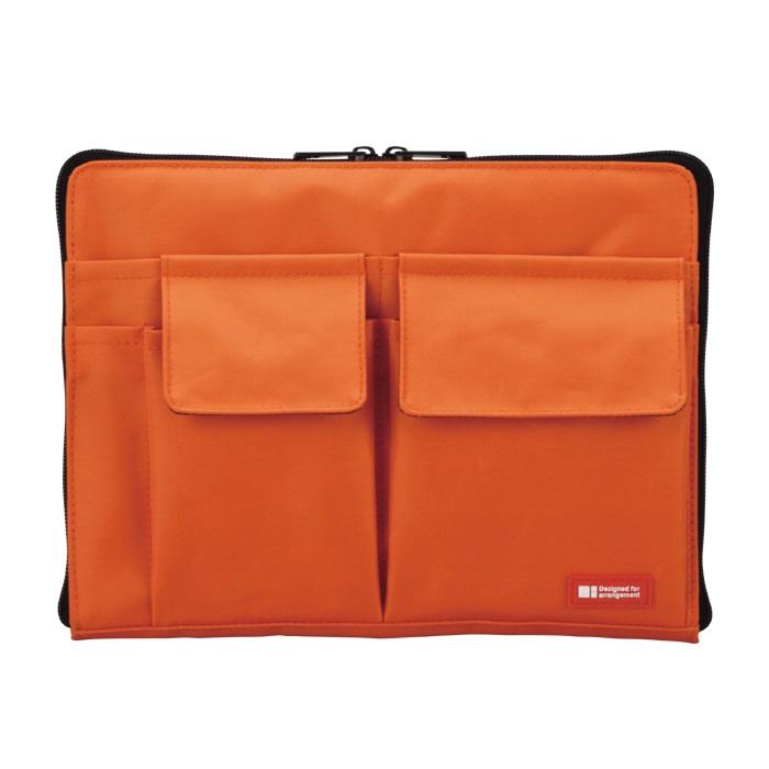 リヒトラブ A-7553-4バッグ イン バッグ 人気ブレゼント A5 ケース Seasonal Wrap入荷 ファイル 収納 橙 スマートフィット