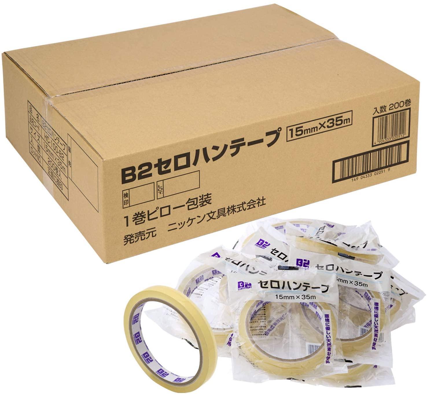 ニッケン文具 共和 セロハンテープ 大巻 200巻 15mm幅×35m巻 B2-T1535_200