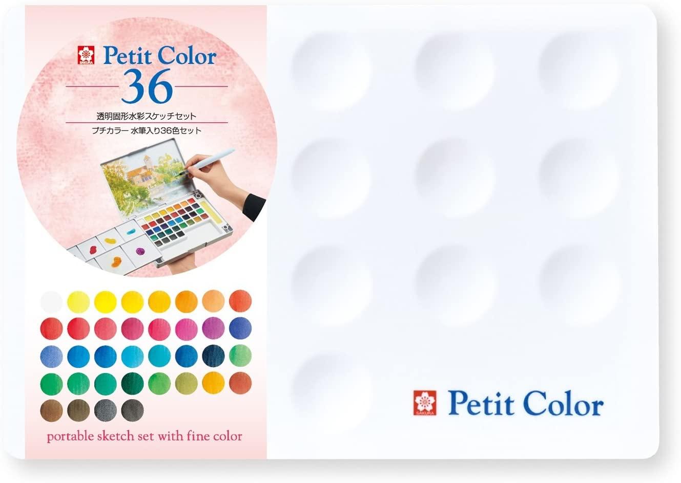 サクラクレパス 絵の具 固形水彩 大放出セール ブランド品 36色 NCW-36H プチカラー