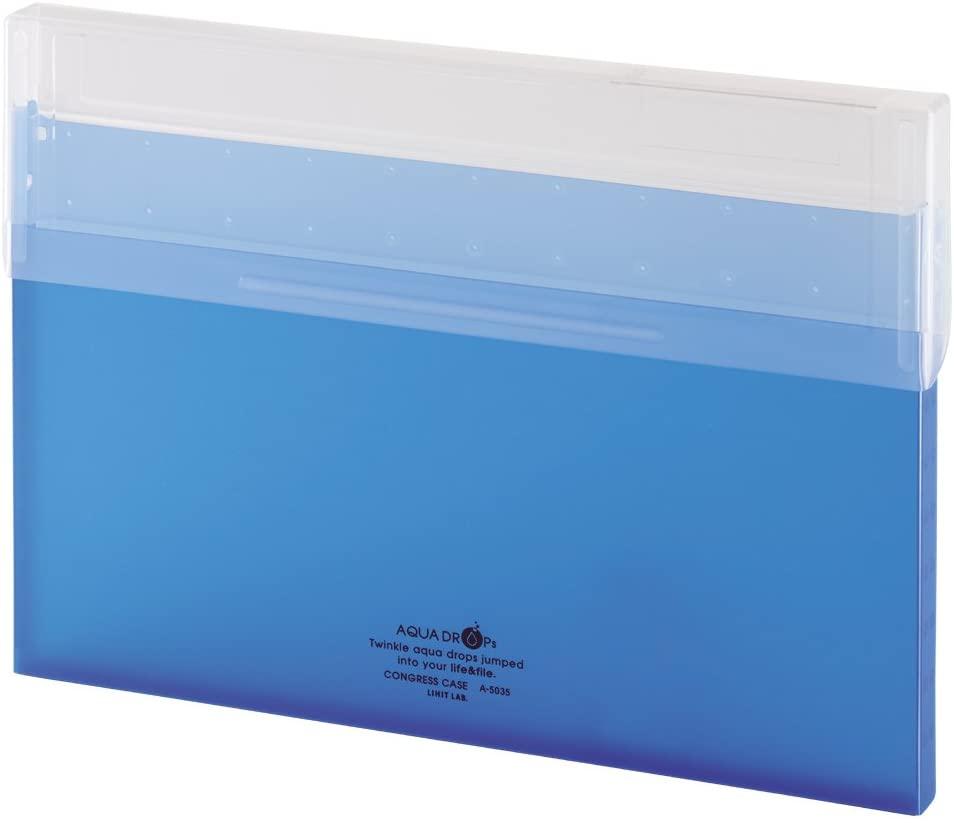 リヒトラブ コングレスケース 本日限定 A4薄型 青 アウトレット A5035-8