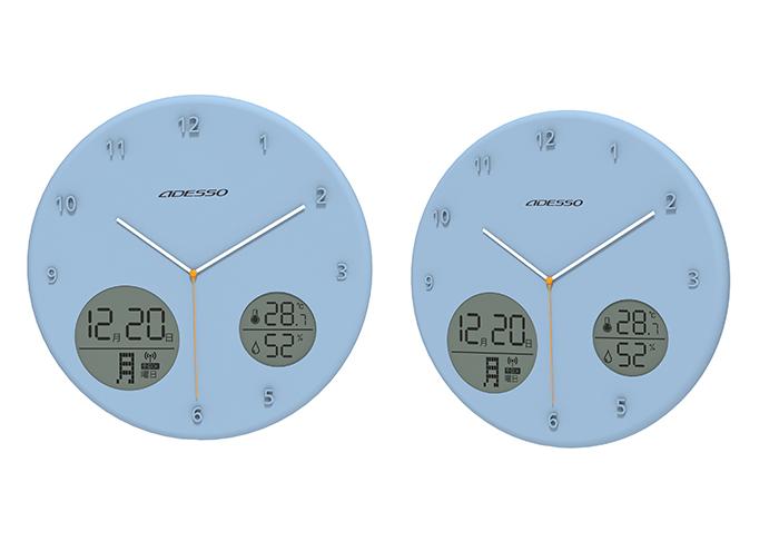 中古 温湿度も表示してくれるインテリアにも最適なウォールクロック アナデジ電波ウォールクロック ついに再販開始 AL-702BL
