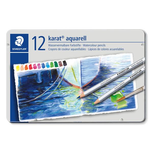 ステッドラー 125 NEW ARRIVAL M12カラト水彩色鉛筆 12色セット ぬりえ 実物 水彩画 色鉛筆 絵画