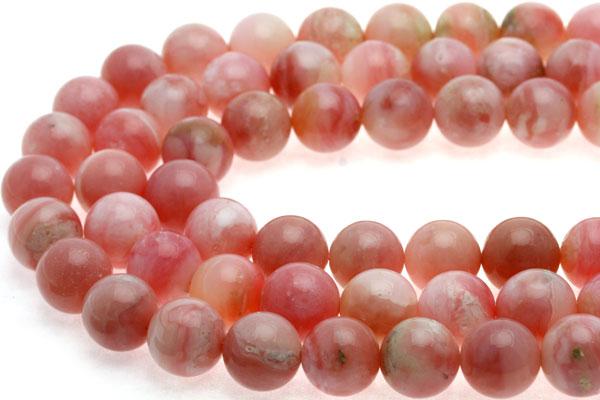 【丸ビーズ】オパール(ピンク) (4A) 12mm (ブレスレット約1本分) 【パワーストーン 天然石 アクセサリー 半連売り】