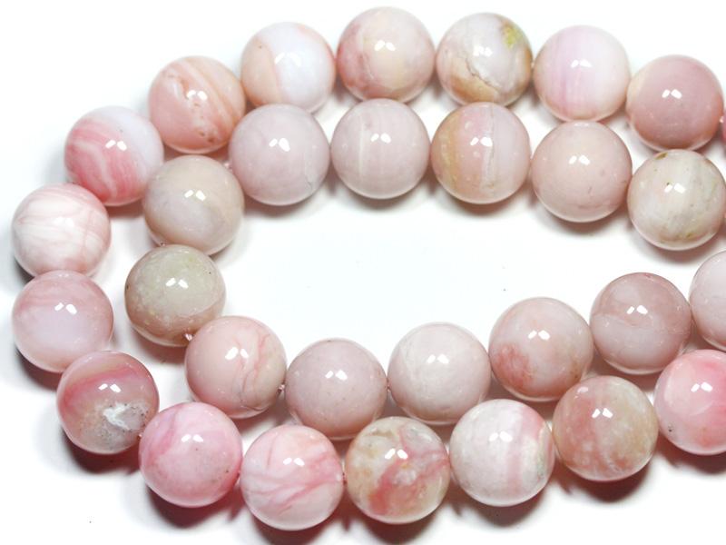 【丸ビーズ】オパール(ピンク) (2A) 16mm (ブレスレット約1本分) ※5の付く日セール※ 【パワーストーン 天然石 アクセサリー 半連売り】