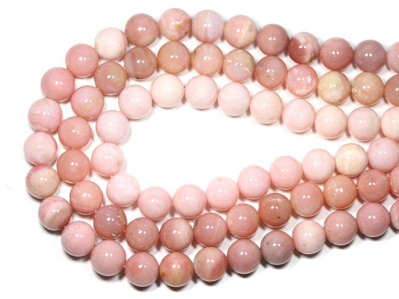 【丸ビーズ】オパール(ピンク) (3A) 12mm (ブレスレット約1本分) 【パワーストーン 天然石 アクセサリー 半連売り】