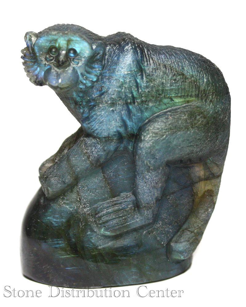 ☆置物一点物☆【彫刻置物】サル ラブラドライト (小) No.23※DM便・ネコポス不可※【パワーストーン 天然石 アクセサリー】
