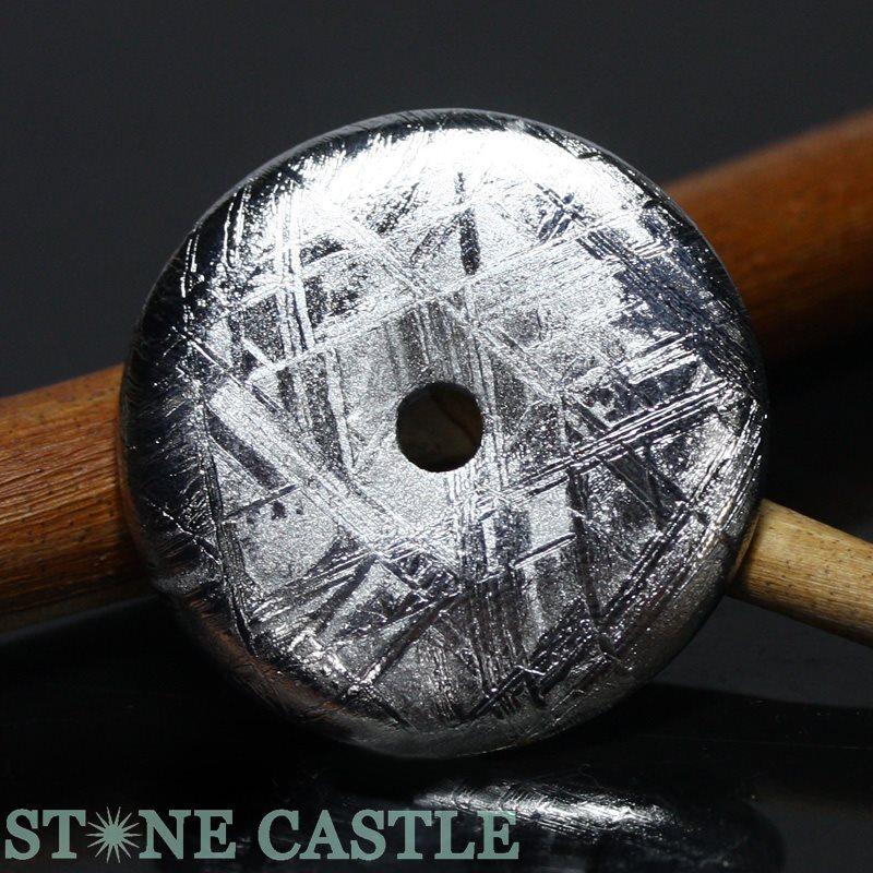 ☆高品質☆【置き石】ドーナツ型(ピーディスク) 30mm ギベオン隕石 【パワーストーン 天然石 アクセサリー】
