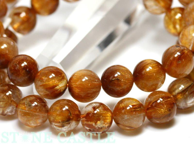 ☆高品質☆【ブレスレット】オレンジキャッツアイマイカルチル (3A) (約10~10.5mm) (ケース付) 【パワーストーン 天然石 アクセサリー レディース メンズ】