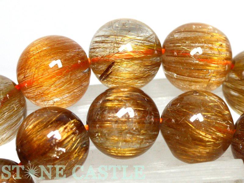 ☆高品質☆【ブレスレット】オレンジキャッツアイルチルクォーツ (5A) (約11.5~12mm) (ケース付) 【パワーストーン 天然石 アクセサリー レディース メンズ】