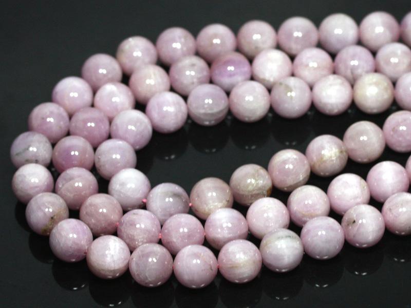 【丸ビーズ】クンツァイト(ピンク) (2A) 12mm (ブレスレット約1本分) ※5の付く日セール※ 【パワーストーン 天然石 アクセサリー 半連売り】