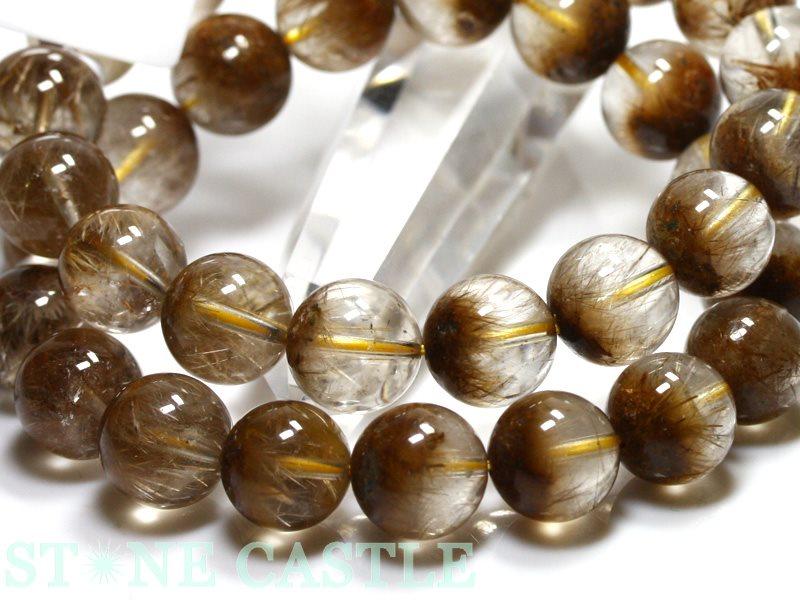 高品質ブレスレット ルチルクォーツ聚宝盆約12~12 5mmケース付パワーストーン 天然石 アクセサリー レディース メンズR5jSLc43qA