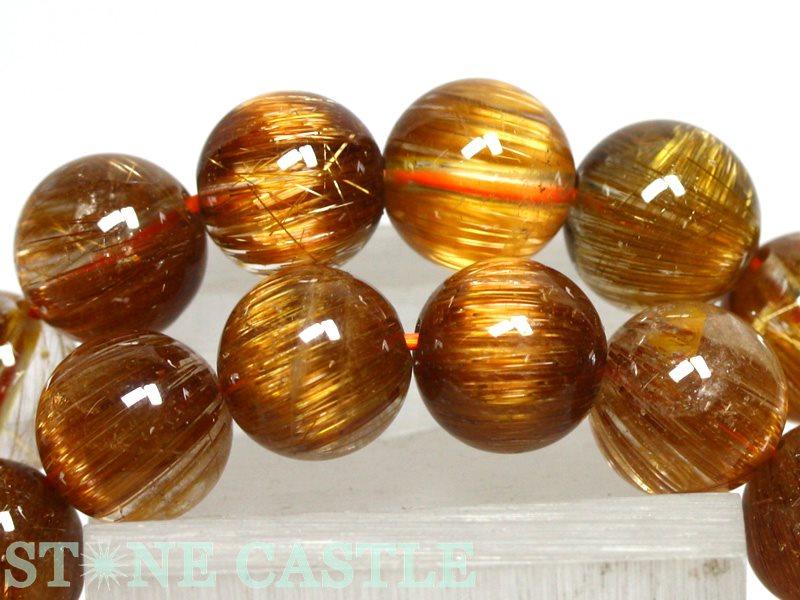 ☆高品質☆【ブレスレット】オレンジキャッツアイルチルクォーツ (5A) (約8.5~9mm) (ケース付) 【パワーストーン 天然石 アクセサリー レディース メンズ】