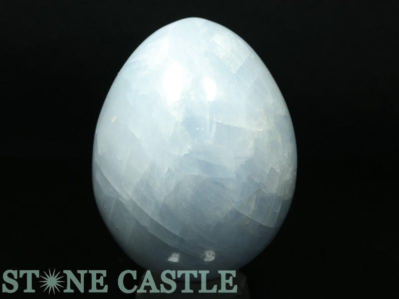 ☆置石一点物☆【置き石】たまご型 ブルーカルサイト No.82 【パワーストーン 天然石 アクセサリー】