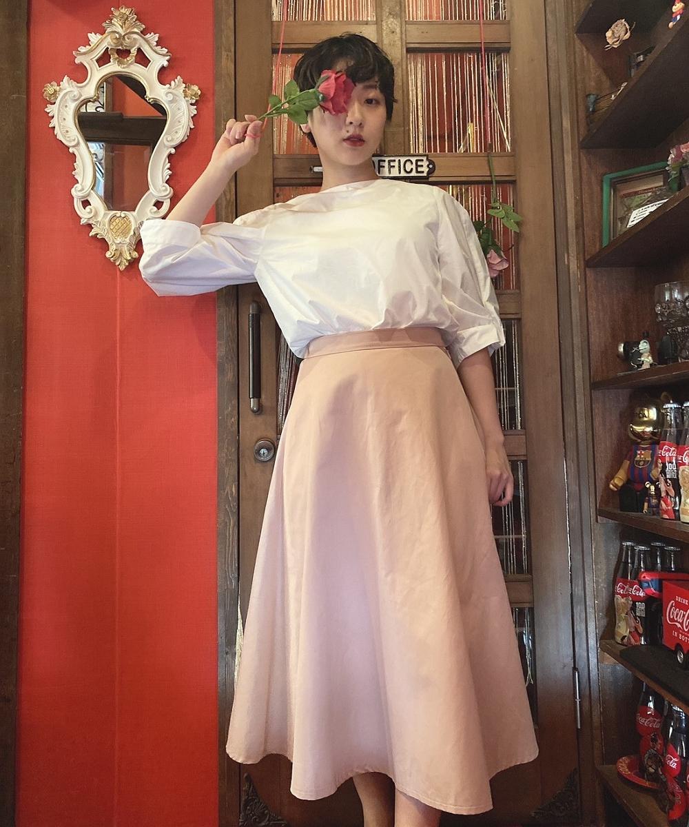 【Competito】フレアミディスカート