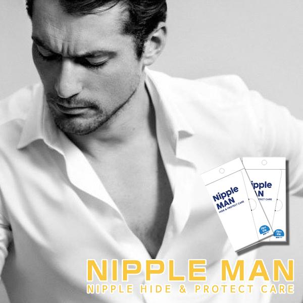 男性用ニップレスなら夏のバストトップが気にならない ニップレス 男性用 ニップルマン 特売 30回分 バストトップシール メンズ MEN's メンズニップレス NIPLESS 二プレス 乳首ポコ ネコポス 乳頭保護シール 最安値挑戦