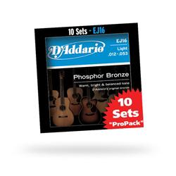 Daddario ダダリオ ダダリオ アコースティックギター弦マルチパック EJ16-10P (EJ16の10セットパック) 仕入先在庫品