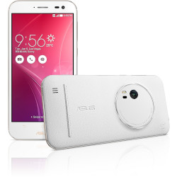 ASUS SIMフリースマートフォンZenFone Zoom 64GBモデルプレミアムレザーホワイト(ZX551ML-WH64S4) 目安在庫=○