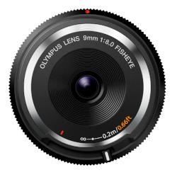 オリンパス フィッシュアイボディーキャップレンズ ブラック BCL-0980 BLK 取り寄せ商品