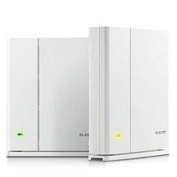 【P10E】エレコム 無線LANルーター親機+中継器セット/11ac.n.a.b.g/867+400Mbps/メッシュ/ホワイト(WMC-DLGST2-W) メーカー在庫品