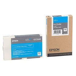 純正品 EPSON (エプソン) ICC54M ビジネスインクジェット用 インクカートリッジM (シアン) (ICC54M) 目安在庫=△