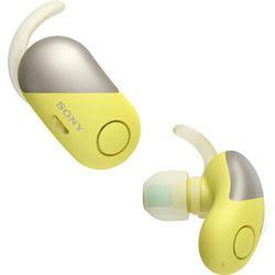 ソニー ワイヤレスノイズキャンセリングステレオヘッドセットY左右独立(WF-SP700N/Y) 取り寄せ商品
