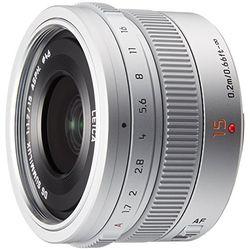 パナソニック デジタル一眼カメラ用交換レンズ シルバー H-X015-S 取り寄せ商品