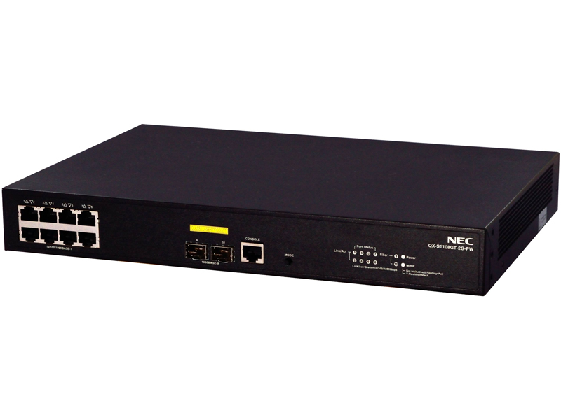 NEC QX-S1108GT-2G-PW 1GbEベーシックPoE+・レイヤ2スイッチ(B02014-01105) 目安在庫=△