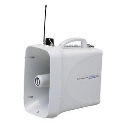 ユニペックス 防滴スーパーワイヤレスメガホン ホイッスル付 シルバーグレー(TWB-300) 取り寄せ商品
