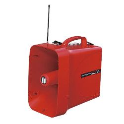 ユニペックス 防滴スーパーワイヤレスメガホン サイレン付 レッド TWB-300S 取り寄せ商品