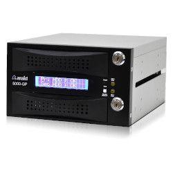 ACCORDANCE 2bays SATA/SATA LCD付内蔵型ミラーRAID 取っ手部分プラスチック 黒(ARAID5000GP-A/P-B) 取り寄せ商品