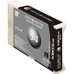 エレコム エコリカ エプソン(EPSON) 対応 リサイクル インクカートリッジ ICBK54L対(ECI-E54L-B) 取り寄せ商品