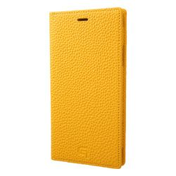 坂本ラヂヲ Shrunken-Calf Leather Book Case for iPhone XR Yellow(GLC-72548YLW) 取り寄せ商品