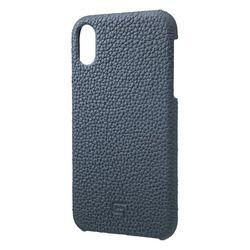 坂本ラヂヲ Shrunken-Calf Leather Shell Case for iPhone XR Navy(GSC-72558NVY) 取り寄せ商品