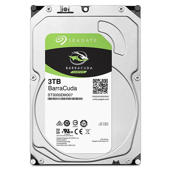 Seagate Guardian BarraCudaシリーズ 3.5インチ内蔵HDD 3TB SATA6.0Gb/s 256MB(ST3000DM007) 目安在庫=△