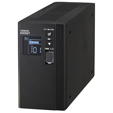 オムロン ソーシアルソリューションズ 無停電電源装置(常時商用給電/正弦波出力) 550VA/340W BW55T 目安在庫=○