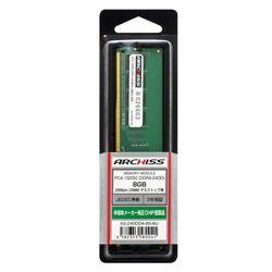 アーキサイト AS-2400D4-8G-MJ PC4-19200 (DDR4-2400) 8GB 288pin U-DIMM 取り寄せ商品