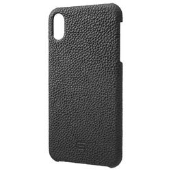 坂本ラヂヲ Shrunken-Calf Leather Shell Case for iPhone XS Max Black(GSC-72458BLK) 取り寄せ商品