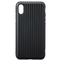 坂本ラヂヲ Rib Hybrid Shell case for iPhone XS Max Black(CHC-52438BLK) 取り寄せ商品