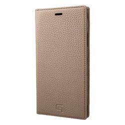 坂本ラヂヲ Shrunken-Calf Leather Book Case for iPhone XR Taupe(GLC-72548TPE) 取り寄せ商品