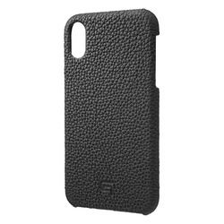 坂本ラヂヲ Shrunken-Calf Leather Shell Case for iPhone XR Black(GSC-72558BLK) 取り寄せ商品