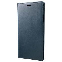 坂本ラヂヲ Italian Genuine Leather Book Case for iPhone XS Max Navy(GLC-72418NVY) 取り寄せ商品