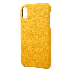 坂本ラヂヲ Shrunken-Calf Leather Shell Case for iPhone XR Yellow(GSC-72558YLW) 取り寄せ商品