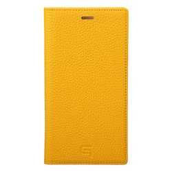 坂本ラヂヲ Shrunken-Calf Leather Book Case for iPhone XS/X Yellow(GLC-72348YLW) 取り寄せ商品
